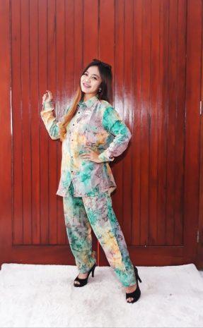 One Set Batik Panjang Tie Dye Super