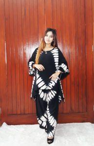 One Set Batik Tie Dye Sayap Jumbo