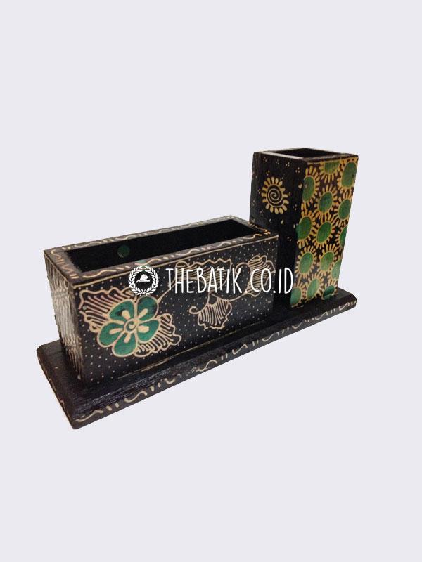 Souvenir Card Holder Unik Kerajinan Kayu Batik