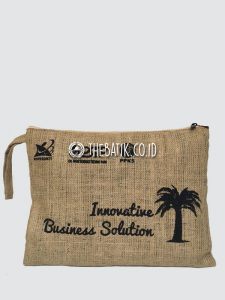 Souvenir Tas Document Holder Goni Burlap Jute