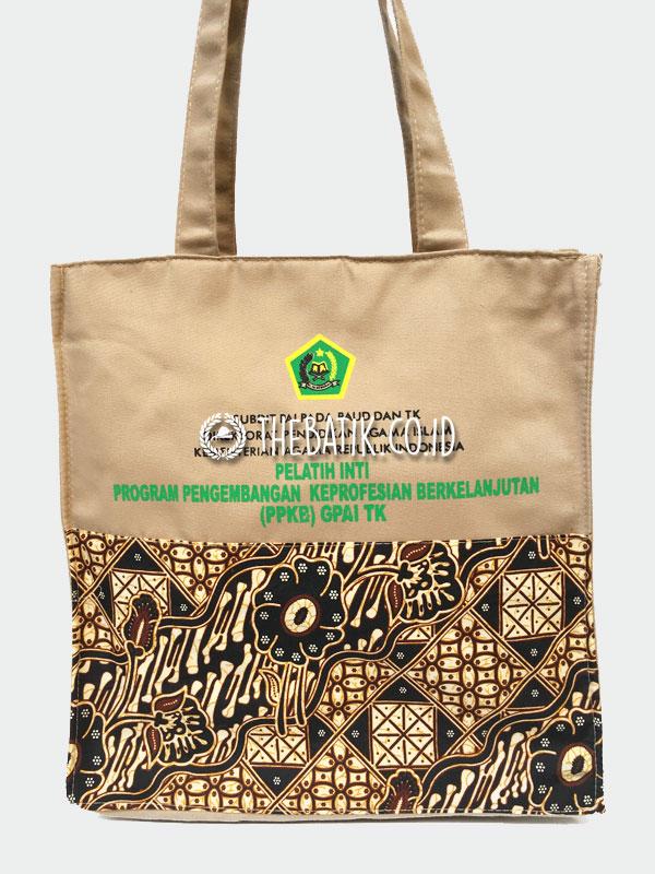 Souvenir Tas Drill Batik Motif Warna Custom