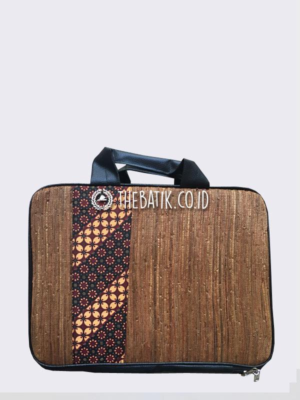 Souvenir Tas Laptop Softcase Serat Alam Batik