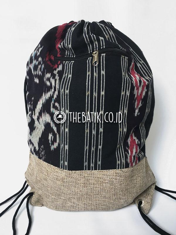 Souvenir Tas Serut Drawstring Bag Tenun Goni