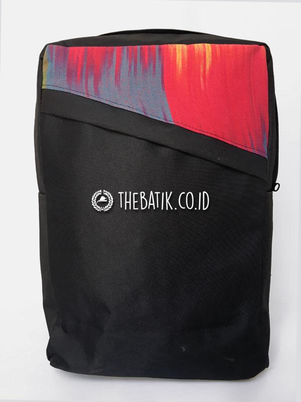 Souvenir Tas Backpack Ransel Tenun Minimalis
