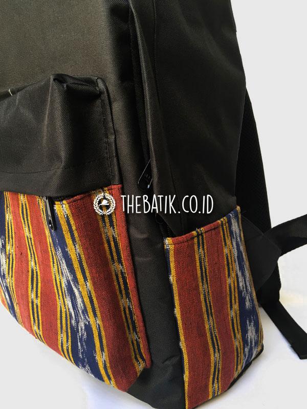 Souvenir Tas Backpack Ransel Laptop Kombinasi Tenun