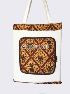 Souvenir Folding Bag Batik Murah Custom Sablon