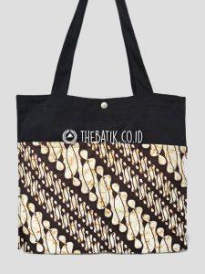 Souvenir Tas Totebag Bahan Drill Saku Batik