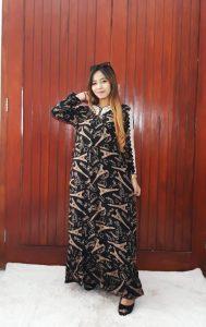 Baju Daster Batik Renda Lengan Panjang