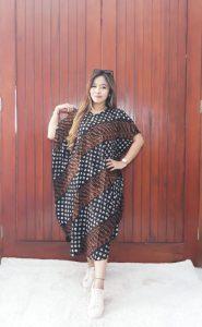 Baju Daster Batik Sogan Motif Parang Lereng