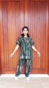 Baju One Set Kekinian Tie Dye Shibori Pendek
