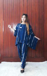 Baju One Set Wanita Tie Dye Pajamas Hijab