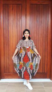 Daster Batik Pendek Motif Tulip Rayon Super