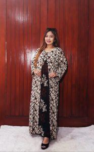 Gamis Batik Dress Maxi Long Dress Cardigan