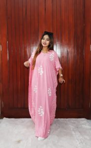 Long Dress Batik Pastel Lowo Panjang Polos