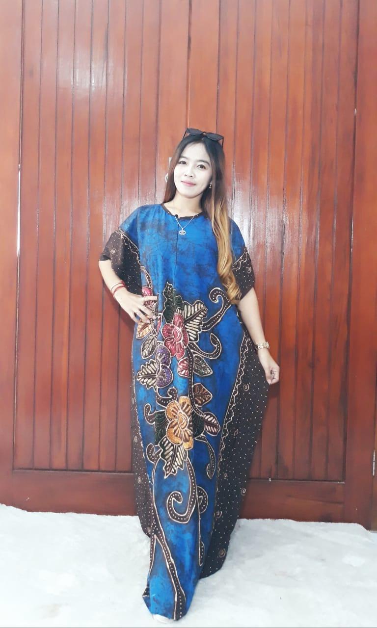 Longdress Batik Daster Tulis Bahan Santung