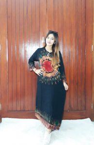 Longdress Batik Indian Trends Baju Tidur Piyama