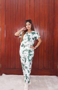 One Set Batik Celana Panjang Lengan Pendek