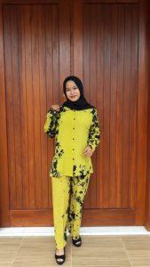 One Set Batik Monochrome Tie Dye Panjang