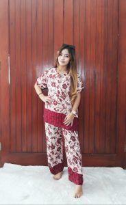 One Set Batik Setelan Wanita Celana Panjang