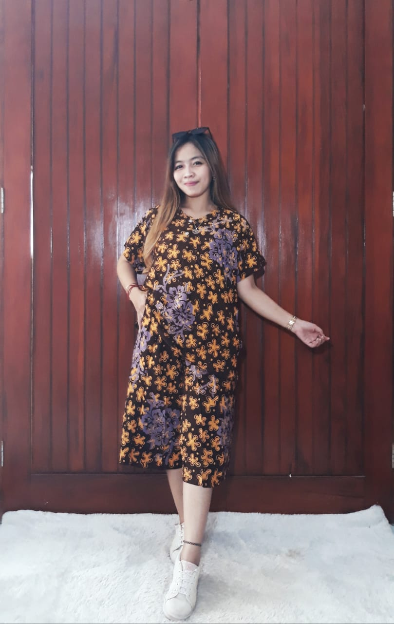 One Set Batik Wanita Setelan Kulot Pendek 3
