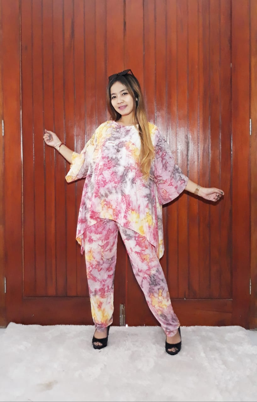 One Set Setelan Batik Blus Marble Super