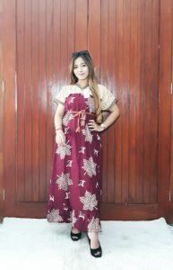 Sackdress Renda Batik Kombinasi Brokat Panjang