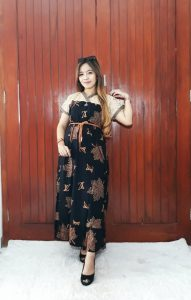 Sackdress Batik Renda Kombinasi Brokat Panjang