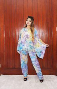Setelan One Set Batik Panjang Bahan Rayon