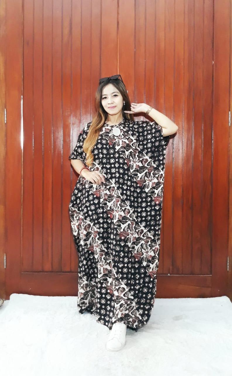 Baju Long Dress Batik Panjang Kelelawar Busui