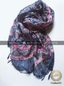 Silk Scarf Shawl Batik Art Indonesia Handmade