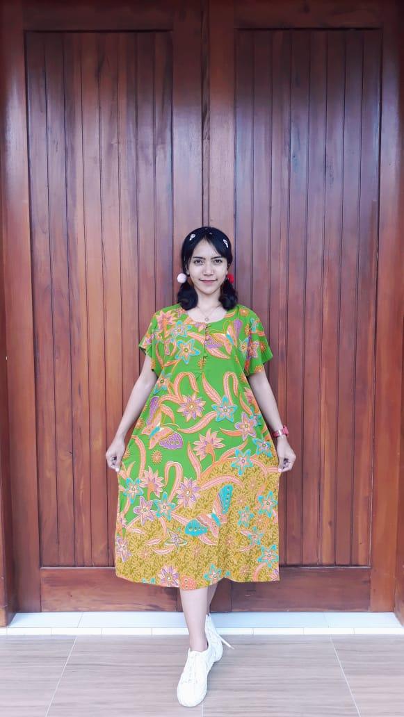 Daster Batik Pendek Ratu Busana Bouquet Floral