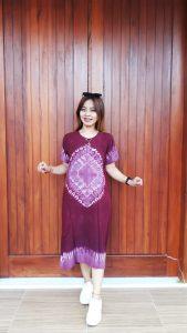 Daster Batik Shibori Jumputan Lengan Pendek