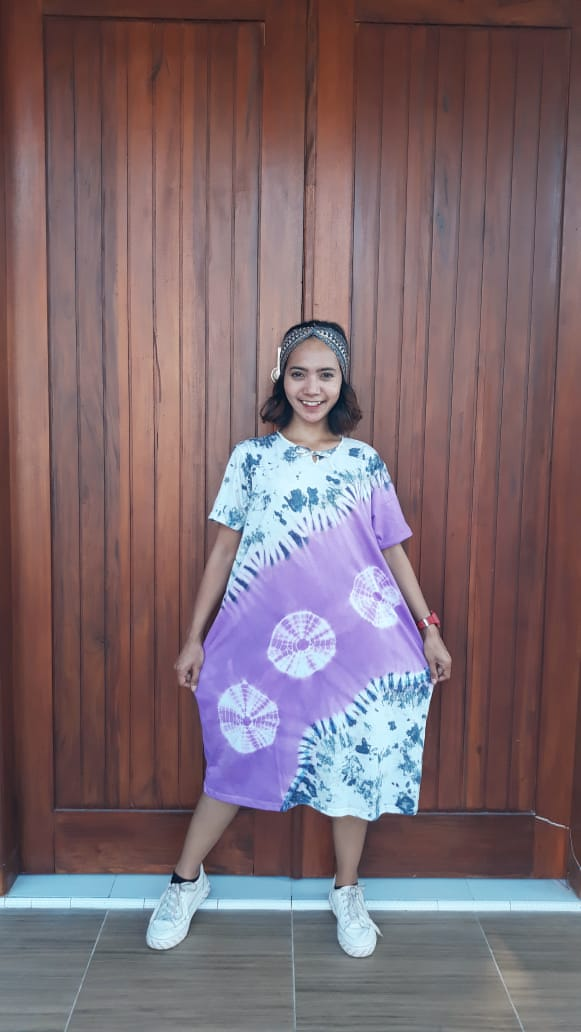 Daster Jumbo Bahan Kaos Batik Jumputan