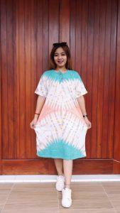 Daster Jumbo Batik Jumputan Bahan Kaos