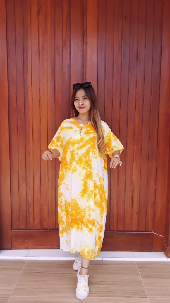 Daster Jumbo Batik Jumputan Bahan Santung