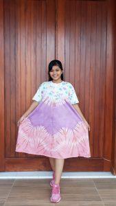 Daster Kaos Batik Jumputan Model Payung