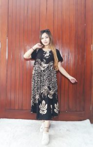 Daster Klok Payung Batik Floral Bahan Santung