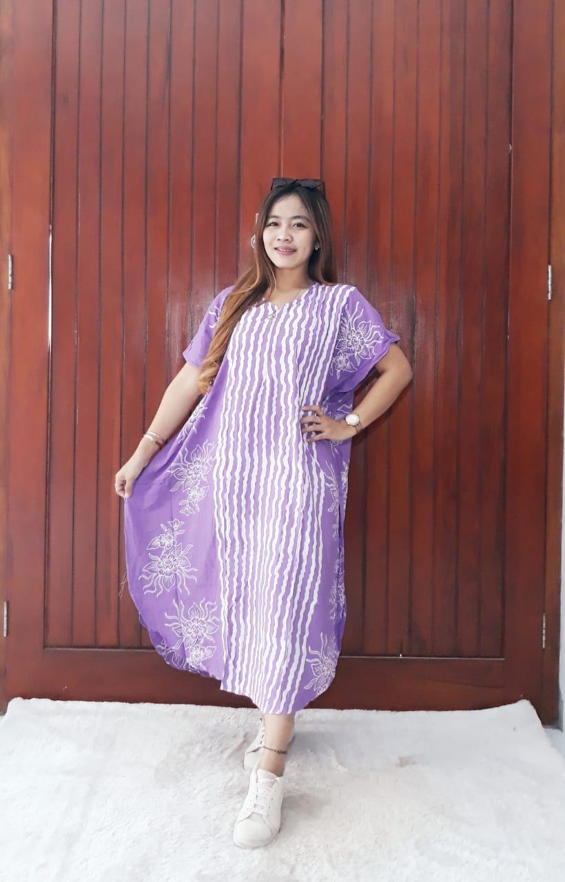 Daster Lowo Lengan Pendek Batik Pastel