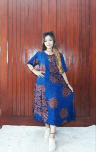 Daster Semi Payung Batik Cap Bahan Santung