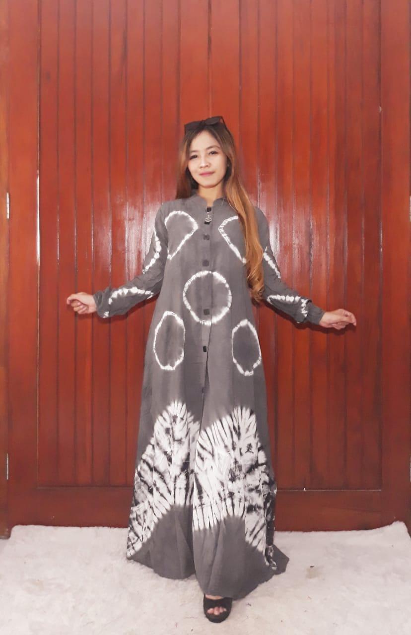 Gamis Panjang Model Payung Jumputan Batik Busui