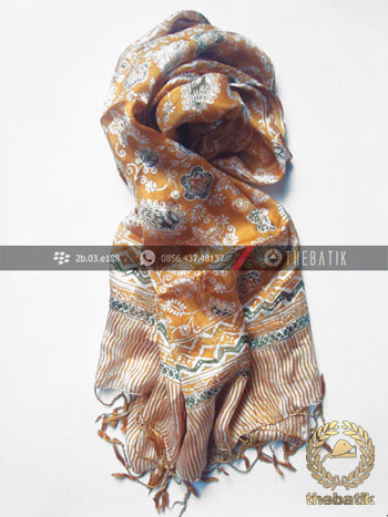 Traditional Handmade Silk Scarf Batik Indonesia