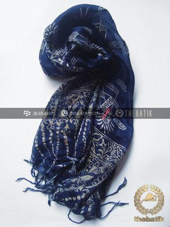 Silk Scarf Shawl Batik Art Indonesia Handmade
