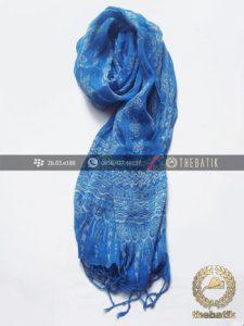 Elegant Silk Crinkle Batik Scarf Hand-Stamped Indonesia