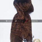 Syal Batik Sutra Warna Tembaga