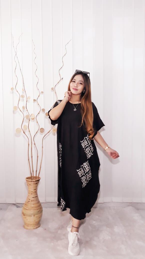 Baju Daster Batik Lowo Pendek Warna Hitam