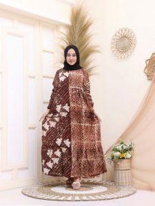 Baju Gamis Payung Batik Muslimah Bahan Rayon