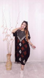 Daster Batik Rayon Hitam Modern Model Lowo