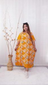 Daster Jumbo Rayon Busui Batik Floral Warna