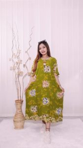 Daster Jumbo Rayon Busui Batik Polos Warna