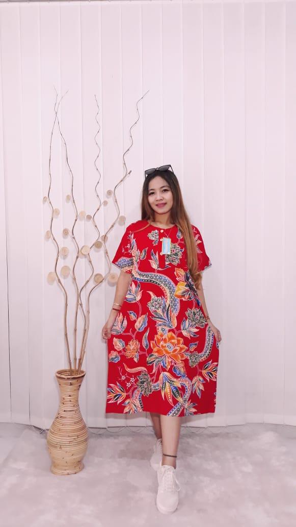 Daster Kencana Ungu Batik Rayon Lengan Pendek